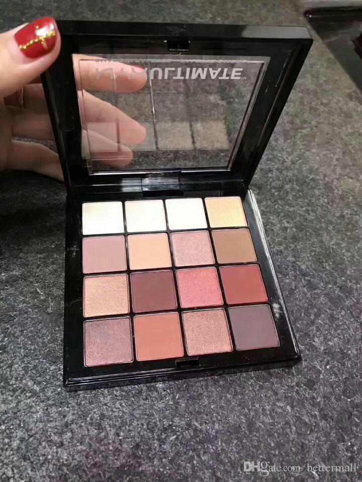 جديد Arrivla NYX Ultimate Eyeshadow Palette 16 colour Warm Neutrals Cosmetics إسقاط الشحن