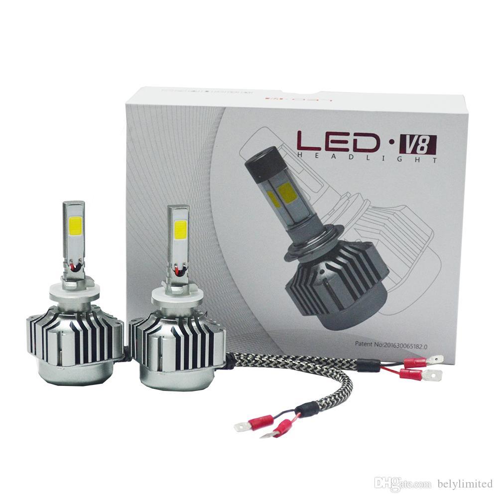 Kit de phare à LED H10 4 côtés COB Kit simple à faisceau élevé et bas Puissance élevée 72w 12000lm 6000k Remplacer pour ampoules halogènes ou à DHI