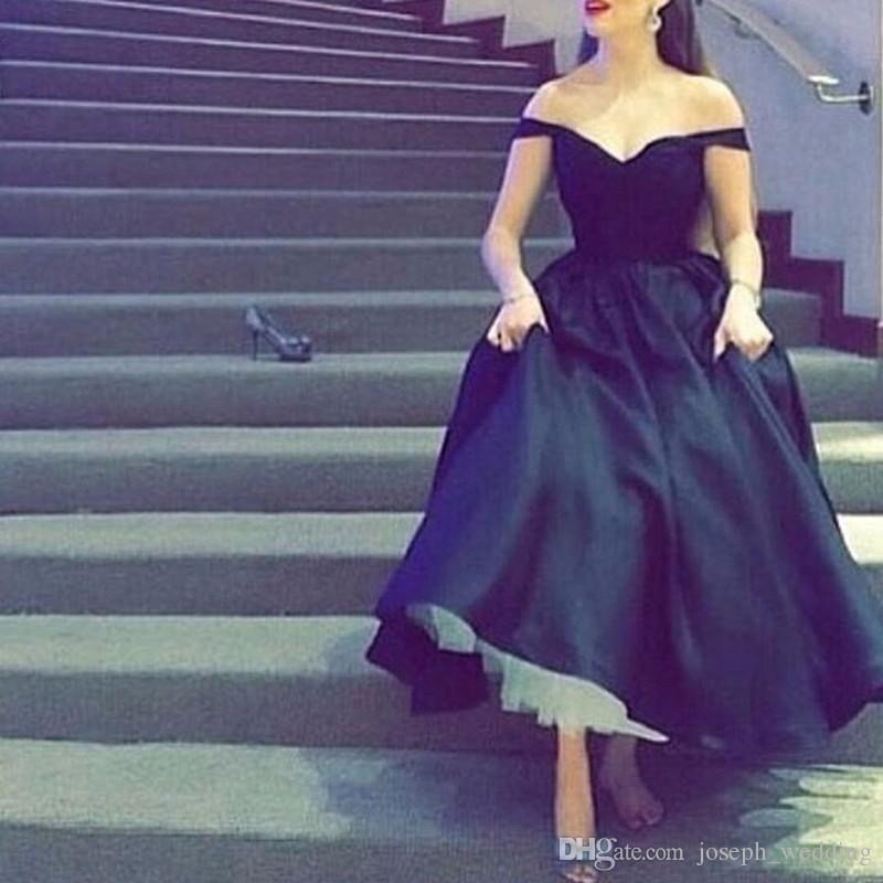 Abito da sera nero con scollo a V nero con scollo a V, abito da sera stile arabo, abiti da sera eleganti in raso elasticizzato