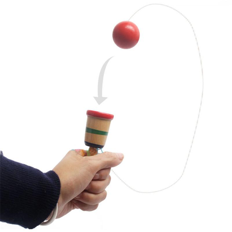 Kendama Educational Coordination Game Sword Ball Skills Wooden Skill Toy Kids Cup Of Hand-eye Coordination Exercise Ball Game Toy