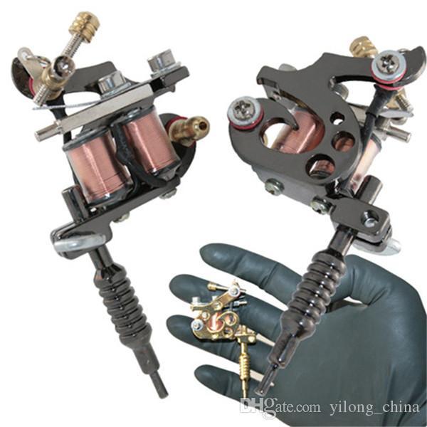 YILONG 1 unids / lote Nueva Moda Lindo Tatuaje Gunmetal Mini Máquina de Tatuaje Collar Colgante de Joyería