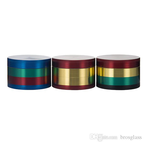 Top quality colorato 52 * 35mm 4 parti in lega di zinco Herb Grinder Smoking smerigliatrice di fumo di erbe 4 parti Chromium Crusher smerigliatrice colorata
