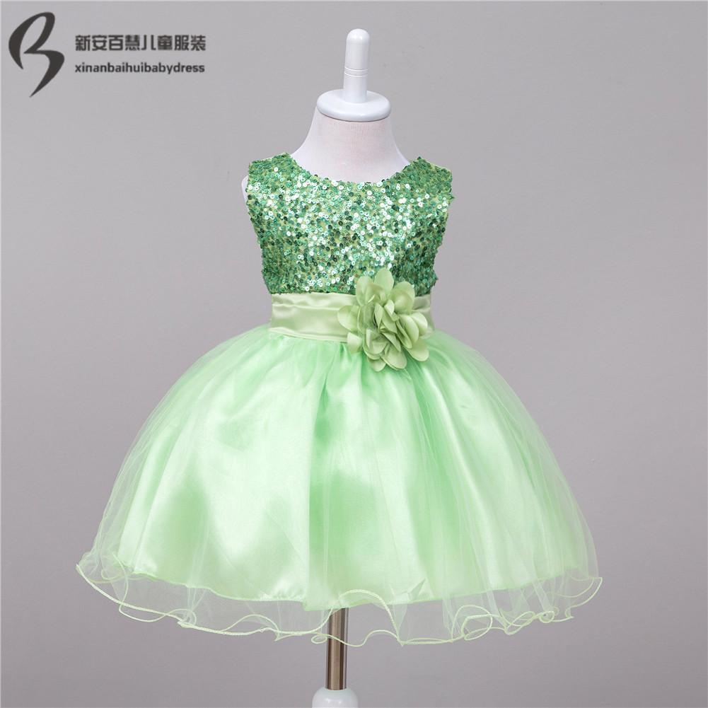 2018 Wholesale Baby Wedding Party Dress Infant Flower Girl Dress ...