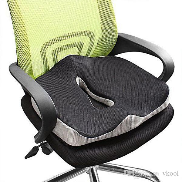 Comfort Memory Foam Seat Cushion Coccyx Orthopedic Office Chair Car Seat Back Cushion Tailbone Sciatica Pain Relief Back Support Cushions Car Seat