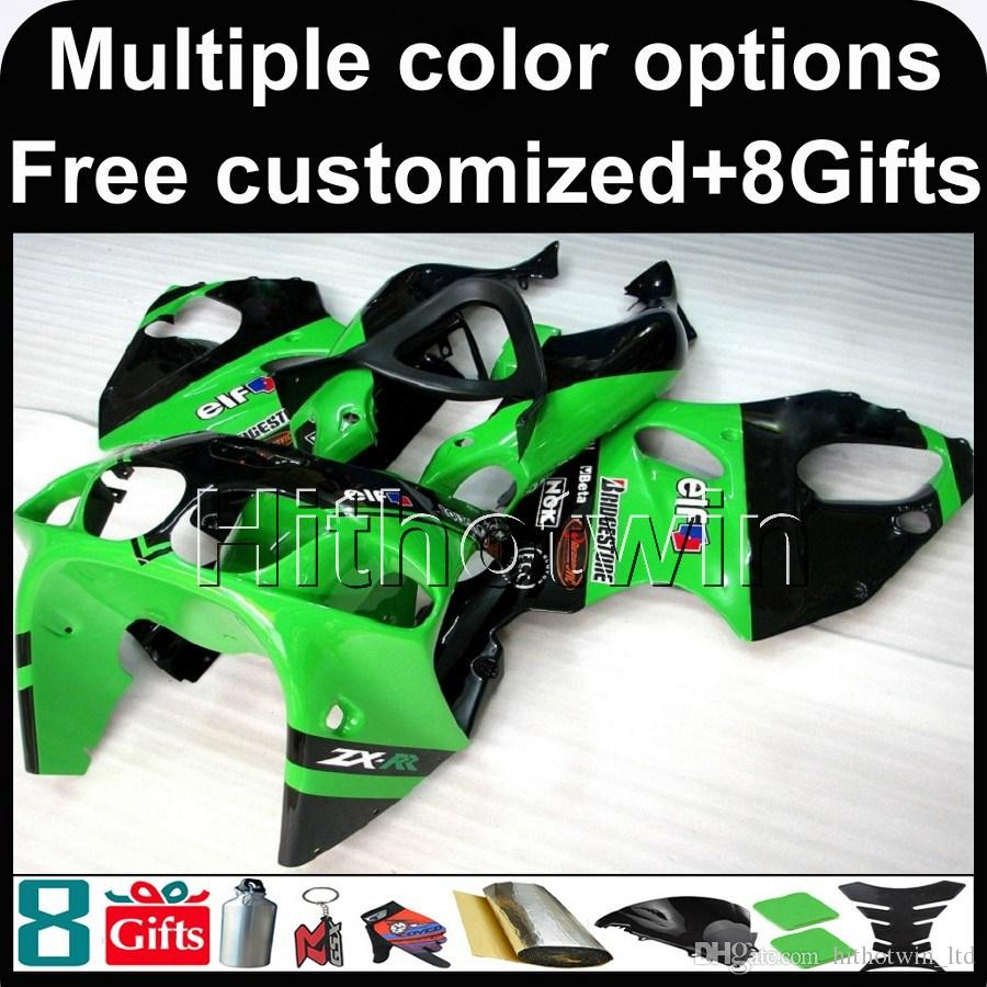 23colors+8Gifts GREEN Body motorcycle cowl for Kawasaki ZX-7R 1996-2003 96 97 98 99 00 01 02 03 ZX 7R 1996 2003 ABS Plastic Fairing