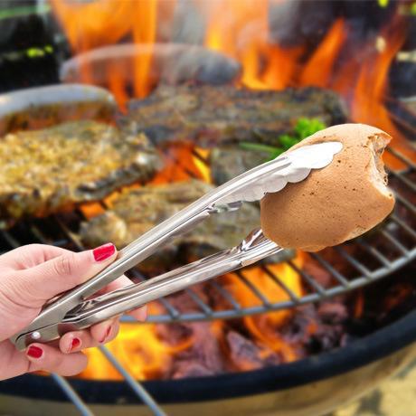 Clipe de churrasco de aço inoxidável talheres clipe de comida pasta de pão talheres grampo de comida utensílios de cozinha