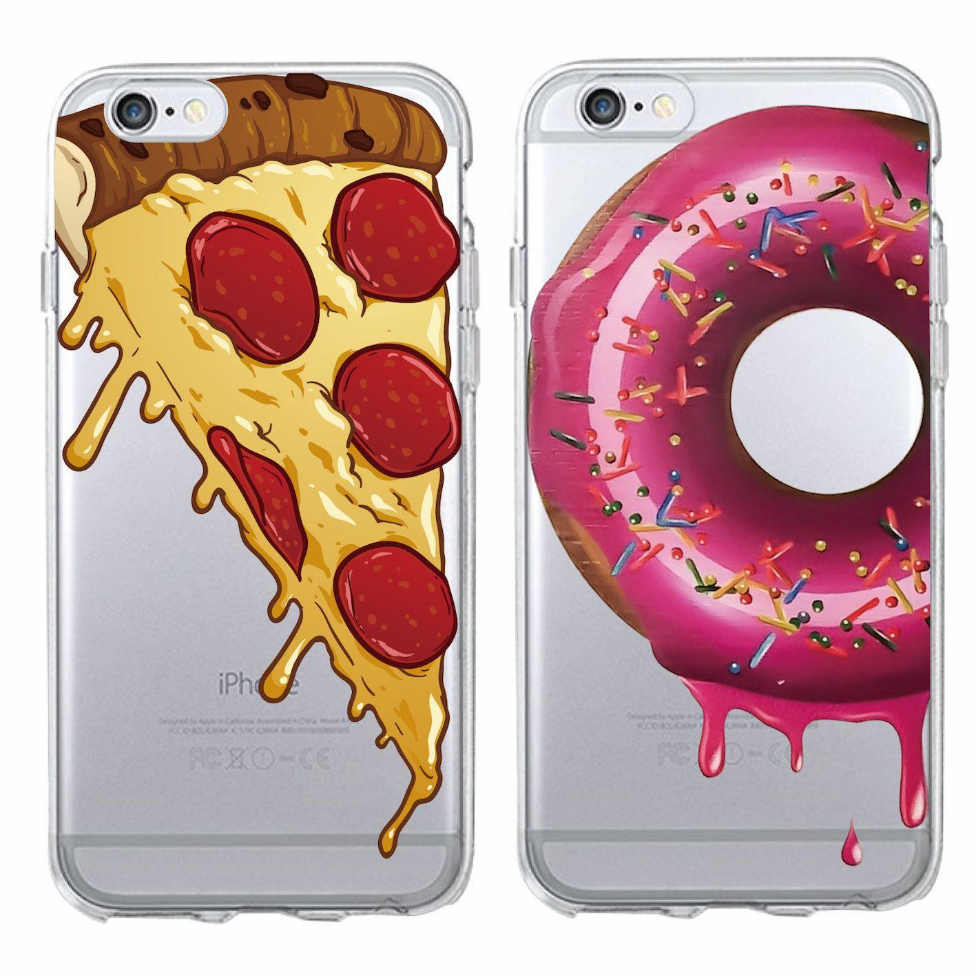 Mode Mignon Pizza Fromage Donuts Doux Téléphone Cas Coque Fundas Pour IPhone 6 6S 6 Plus 7 7 Plus 5 5S SE 5C Proposé Par Joancase2017, 0,69 € | ...