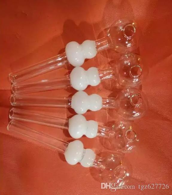 Короткие курительные трубки с цветной калабаш изогнутые мини-масляная горелка ручной Дунутый ресайклер лучшие стеклянные горелки