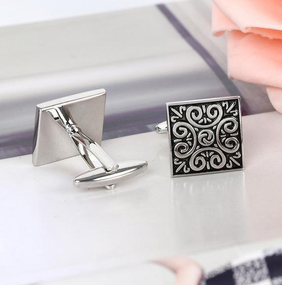 Europäische und Amerikanische Herren Manschettenknöpfe Roman Pattern Sleeves Nails
