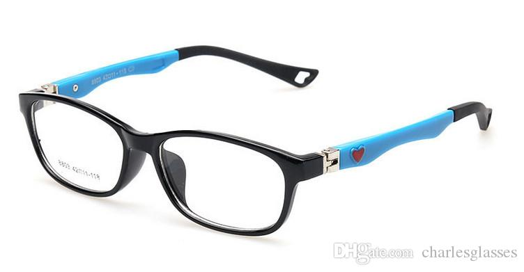 (10pcs / lot) arbeiten Plastikkinder optische Rahmenkindbrillen für Verordnung viele Farben Mischauftrag 8803 um