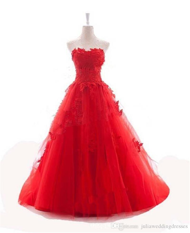 2017 Sexy Red Ball Gown Quinceanera Dresses with Appliques Tulle Lace Up Plus Size Sweet 16 Dress Vestido Debutante Gowns BQ53