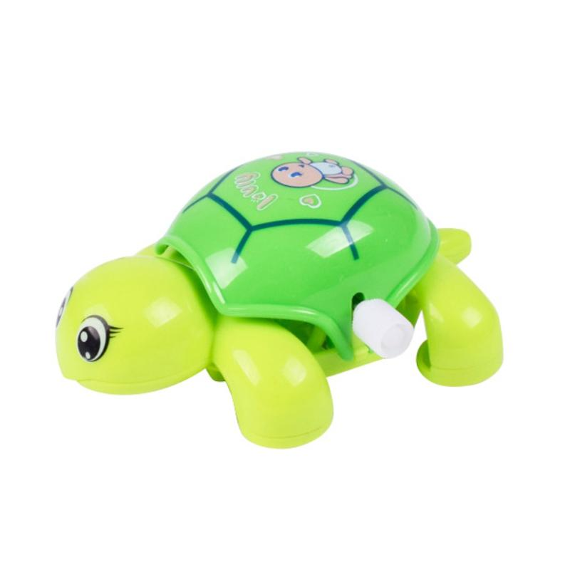 Wholesale- 1pcs Baby Toys Mini Clockwork Tortoise Children Cute Animal Turtle Toys Baby Wind Up Toys