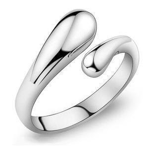 Ленточных кольца Простой бренд дизайн двойной полукруглая головка Кольцо-925 Stering открытой компании серебряного кольцо высокого качества ювелирные изделия для женщин девушки Циркон колец