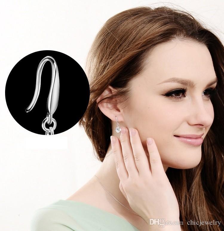Ohrringe 925 Sterling Silber Hochzeit Ohrringe Frauen mit Steinen Ohrringe Fashion Charm Schmuck Ohrstecker Funkelnde Costly Glamour