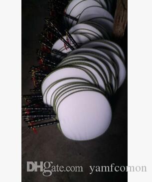DIY فارغة عشاق الحرير جولة الأبيض مع مقابض الأطفال باليد مروحة اليدوية الجميلة فن الرسم برامج