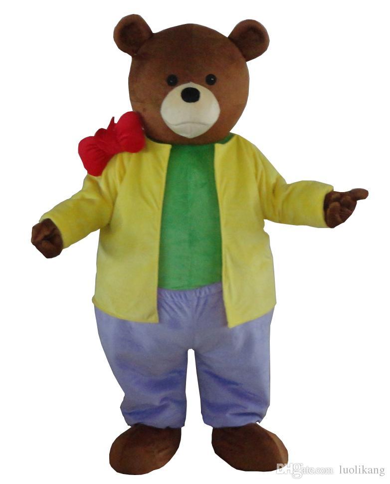 Costume Yogi Bear Mascot personnalisé costume fantaisie anime kits costume de carnaval mascotte cartoon thème déguisement