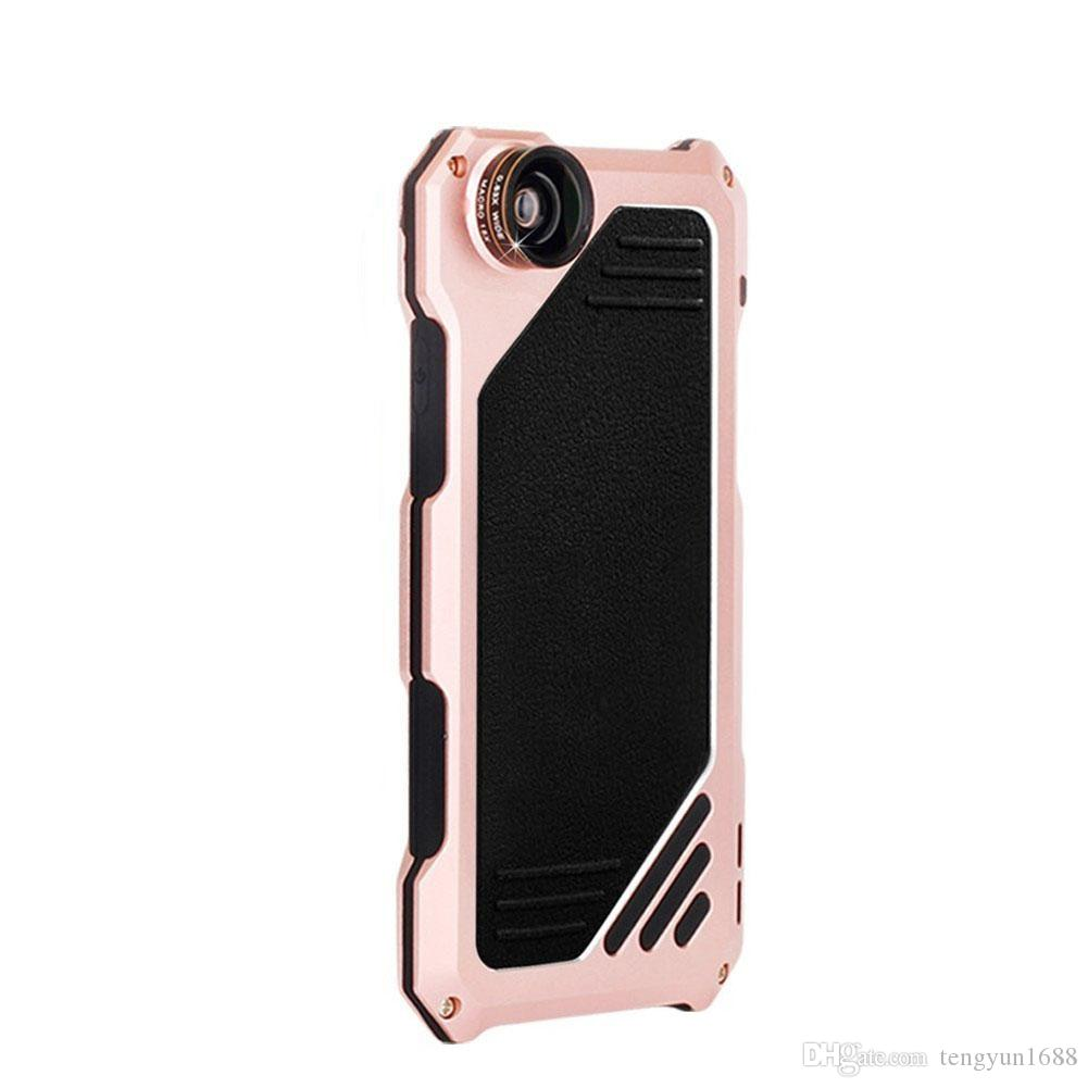 For iPhone7 Phone Case Screen Protector Waterproof Scratch-resistant High Impact Aluminum Alloy Case With 3 Separated Camera Lens Kit