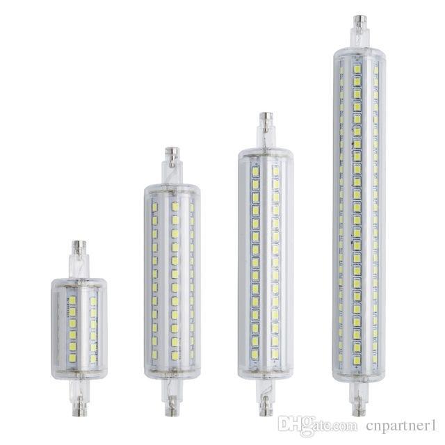 LED Lamparas Dimmable R7S LED Corn light 78 мм 118 мм 135 мм 189 мм Свет 2835 SMD Лампа 7 Вт 14 Вт 20 Вт 25 Вт Заменить галогенную лампу Бомбилла