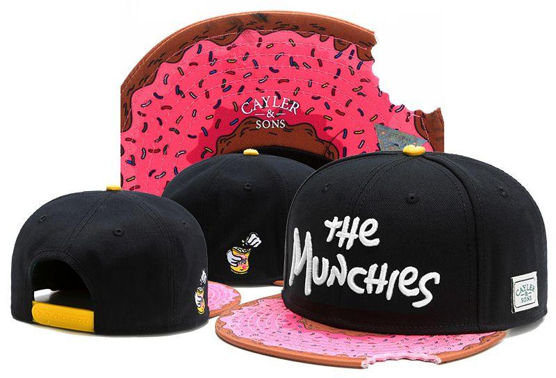 Cayler Sons Pink the MUNCHIES نقص زاوية الهيب هوب قبعات البيسبول snapback القبعات للرجال النساء العظام كاب المفاجئة الظهر
