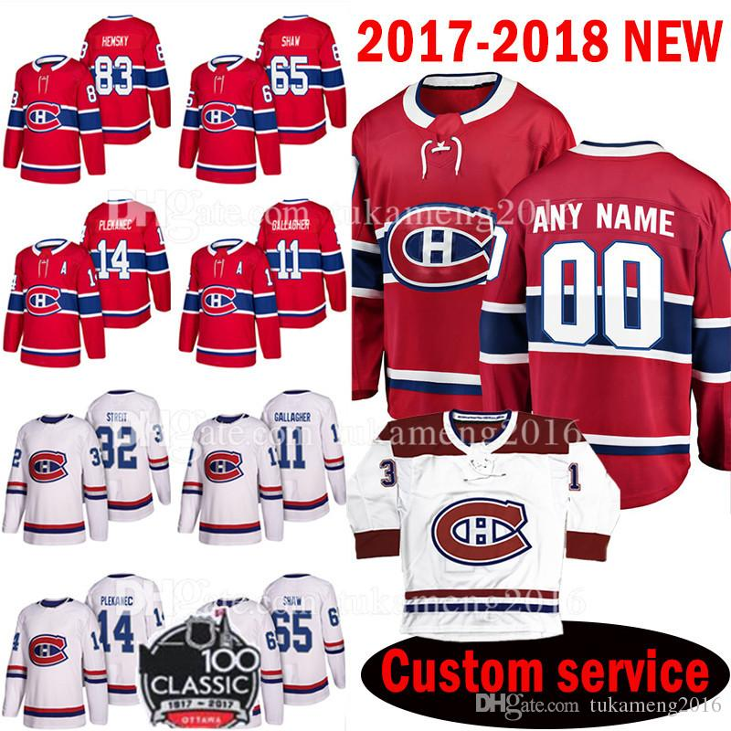 Custom Men's 2018 Montreal Canadiens 83 Ales Hemsky 65 Andrew Shaw Jersey 14 Tomas Plekanec 11 Brendan Gallagher 32 Mark Streit Jerseys Mens