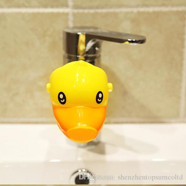 Nueva llegada de dibujos animados lindo animal extensor de grifo para niños niños lavado de manos en el baño lavabo 3 colores