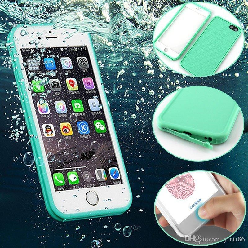 new product 65cc3 c5263 Shockproof Underwater Diving Waterproof Full Cover Bag Case For IPhone 8  7/7 Plus 6/6s Plus 5/5s Cell Phones Cases Custom Cell Phone Case From ...