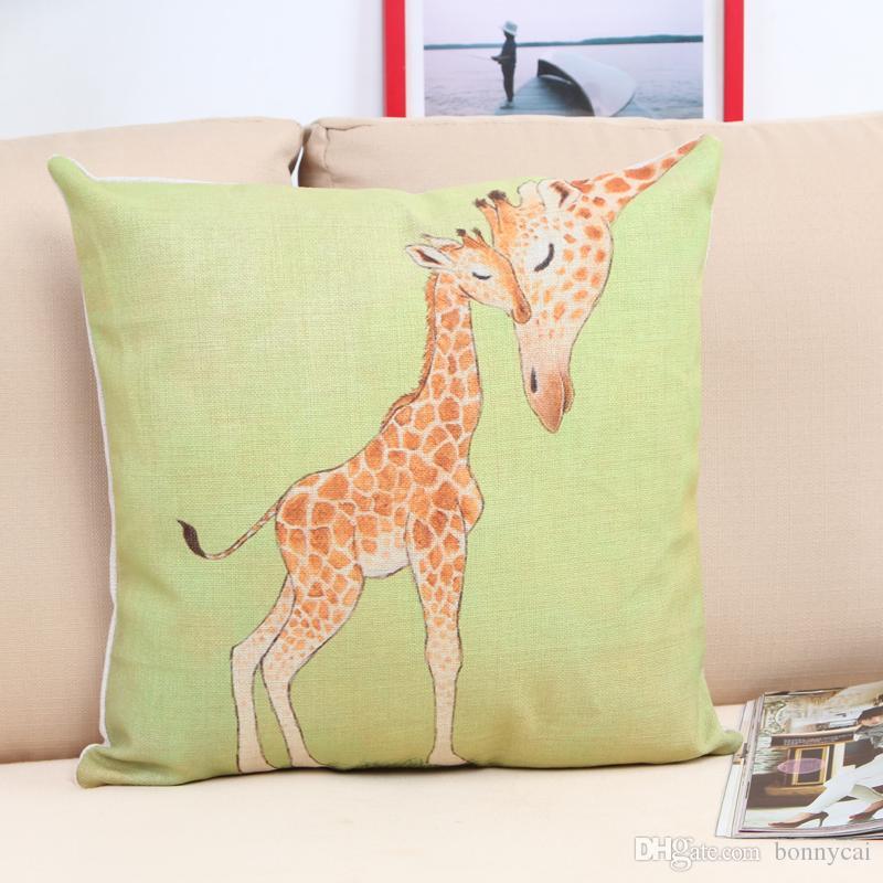 Girafe Housse de coussin deux Girafe Coussin choix de tailles fait main