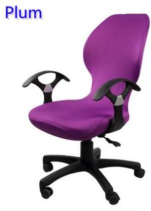 Fabulous Plum Colour Lycra Computer Chair Cover Fit For Office Chair With Armrest Spandex Chair Cover Decoration Wholesale Fabric Chair Covers For Dining Room Cjindustries Chair Design For Home Cjindustriesco
