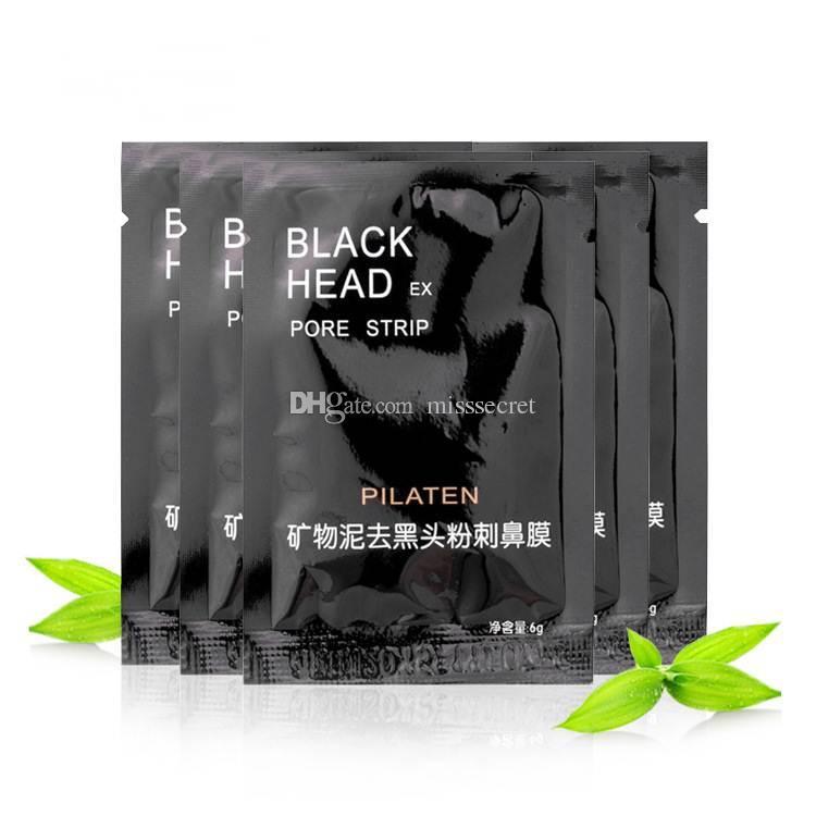 3000pcs PILATEN Facial Minerals Conk Nose Blackhead Remover Mask Facial Mask Nose Blackhead Cleaner 6g Black Head EX Pore Strip DHL Free