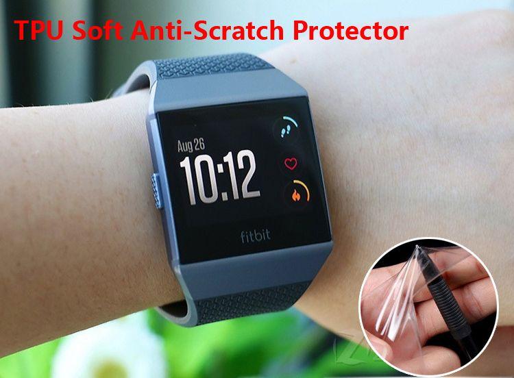 Film de protection d'écran TPU ET Film de protection d'écran Full Cover anti-rayures haute définition pour Fitbit Ionic