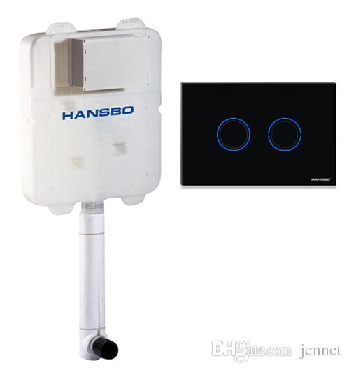 HANSBO Sensor und mechanischer Spülfunktionssensor Spültoilette Unterputzbehälter für Bodentoilette für Hock- und Sitzwanne