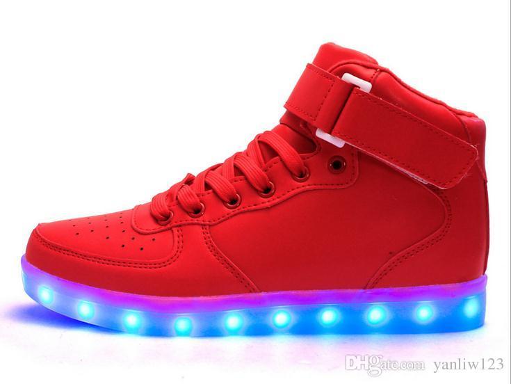 check out 7cb6d a0af0 Großhandel Kinder Usb Charging Led Light Schuhe Sneakers Kids Light Up  Shose Mit Wings Luminous Beleuchteten Jungen Mädchen Schuhe Chaussure  Enfant ...