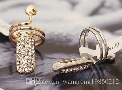 Europa e nos Estados Unidos elegante personalidade exagerada ShanZuan corações anel de unha broca completa, você vai gostar, frete grátis