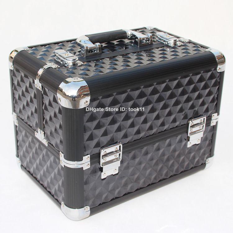 2019 Professional Cosmetic Bag Big Hard Makeup Organizer Storage Box  Beautician Cosmetician Tool Make Up Case Metal Aluminium Handbag Top  Quality From