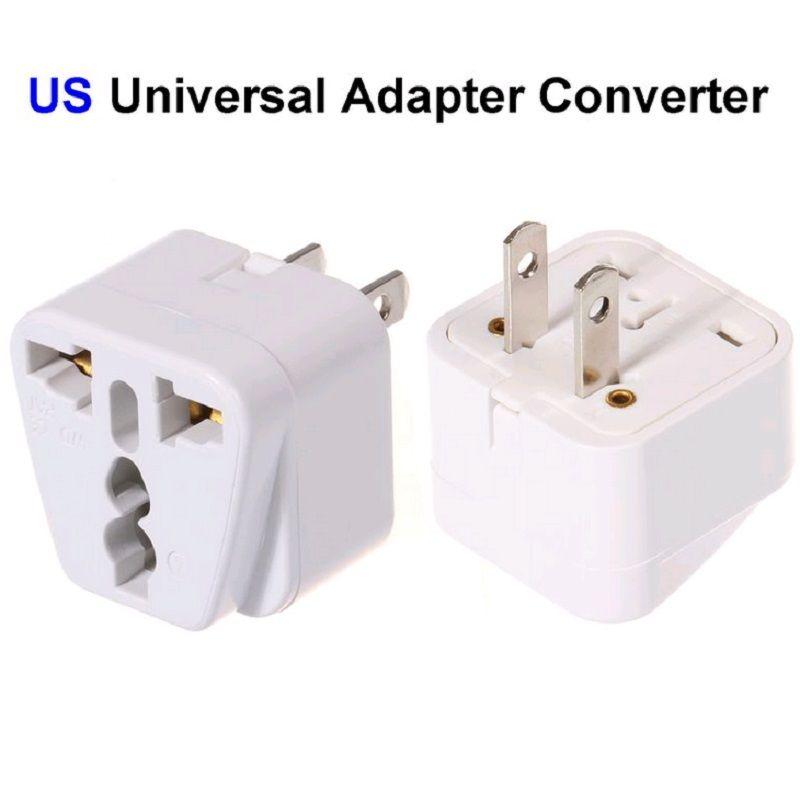 5 Universal EU UK AU to US USA AC Power Adapter Travel Plug Converter