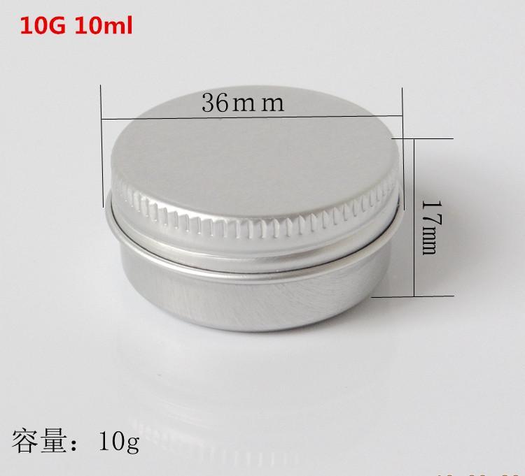 50 STÜCKE 10 gr / ml Leere Aluminiumgläser Nachfüllbare Kosmetische Flasche Salbe Creme Probe Verpackungsbehälter Schraubverschluss