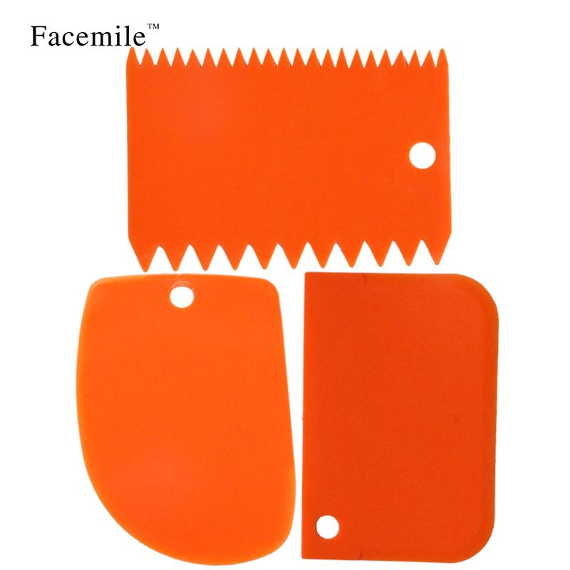 بالجملة-3pcs / set kitchen supplies plastic fondant cake decorating tools smooth tool Baking Pastulas 51059