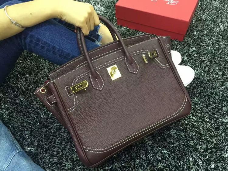 2016 Luxury H Handbag Women\`s Litchi Cowhide Messenger Bag Genuine Leather Famous Designer Shoulder Crossbody Totes Ladies Bolsa (45)