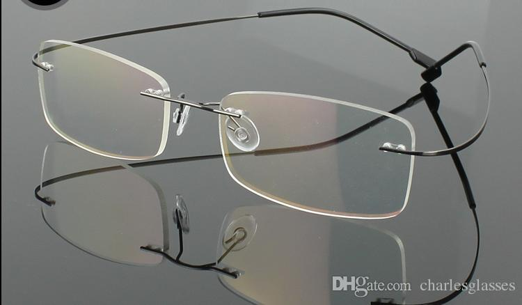 (12 / pc's / partij) Nieuwe Mode Mannen / Damesrandloze Brilmonturen Memory Titanium Optische Frames Veel kleuren