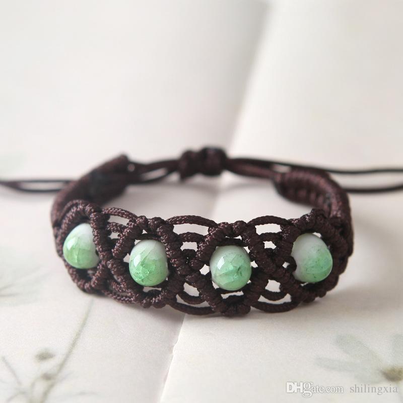 5 colors Handmade Water Drops Porcelain Beads Bracelets Ceramic Bracelets Jewelry bracelets for women bangle grils hand
