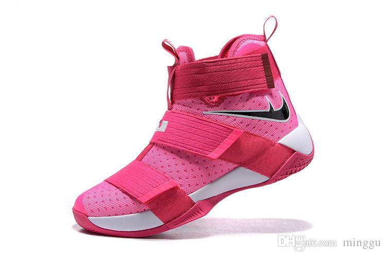 lowest price 4e730 cd178 2018 2017 Cheap Lbj 10 Men Lebron X 10 Black Soldier Dunkman Basketball  Shoes Men Pink Camo Kay Yow Sports Zapatillas Shoes Size 40 46 For Sale  From ...