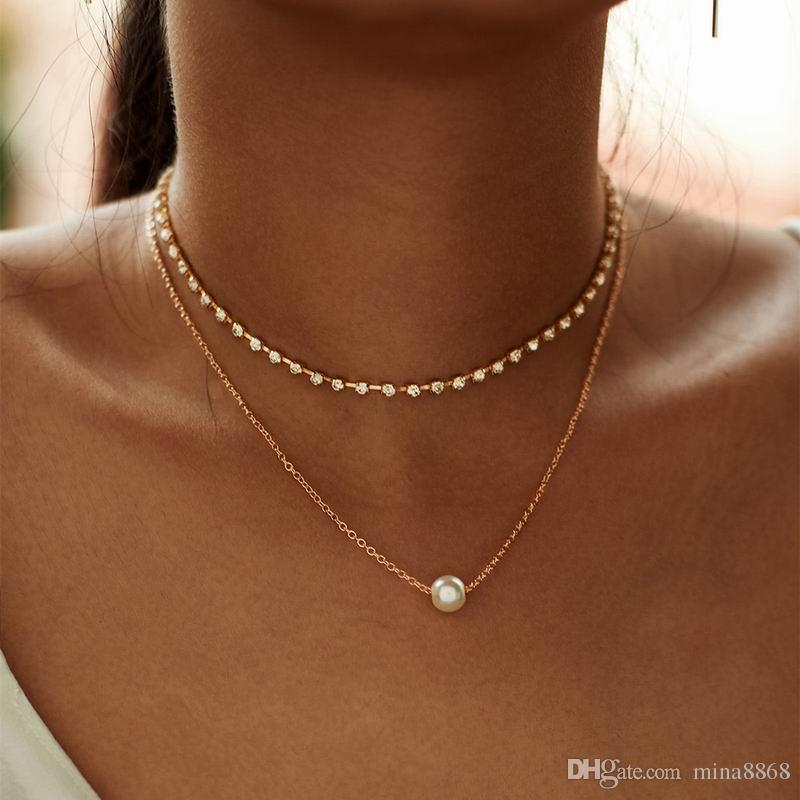 New Simple style short Necklace Cross link chain necklace Christmas Gift