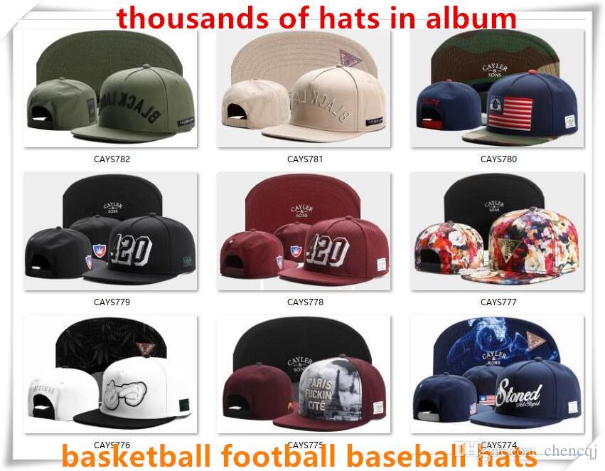 Новый Cayler сыновья snapback шляпы шапки привязать назад бейсбол футбол баскетбол пользовательские шапки регулируемый размер Drop доставка выбрать из альбома CY50
