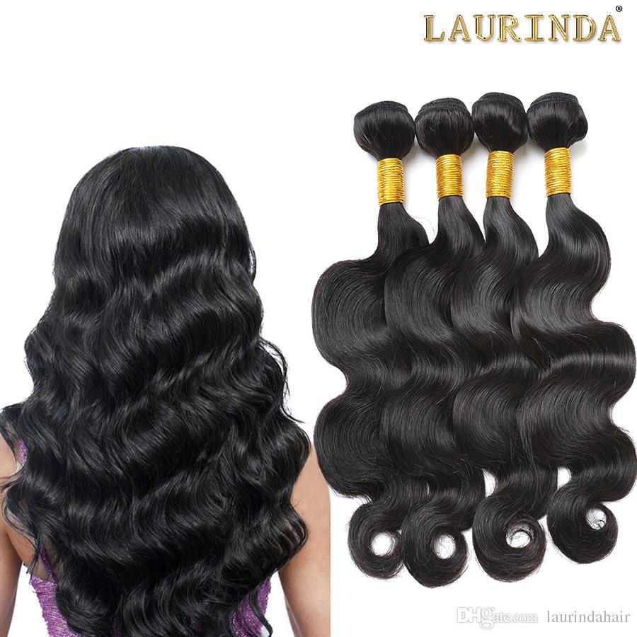 Brazilian Virgin Human Hair Weave 4 Bundles Body Wave Unprocessed Peruvian Malaysian Indian Cambodian Remy Hair Extensions Natural Black