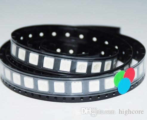 MIX SMD 5050 LED 다이오드 레드 / 그린 / 블루 / 옐로우 / 퍼플 / RGB 등