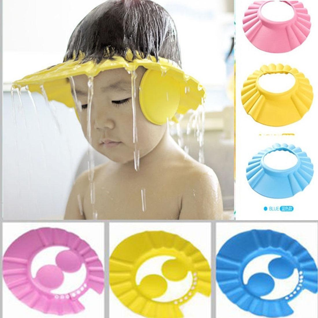 Cartoon Baby Wash Hair Shield Cap Shampoo Bath Shower Hat Protector Kid Children