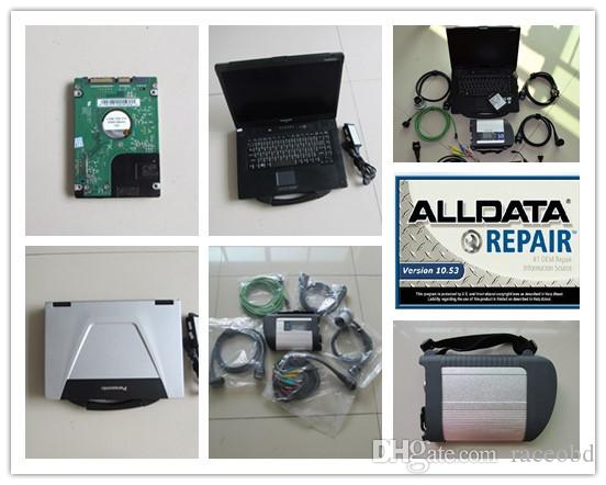 MB Yıldız C4 Çoklayıcısı ve Kablolar ve AllData 10.53 Kurulu Kuyu HDD 1TB Laptop CF52 Kullanıma hazır