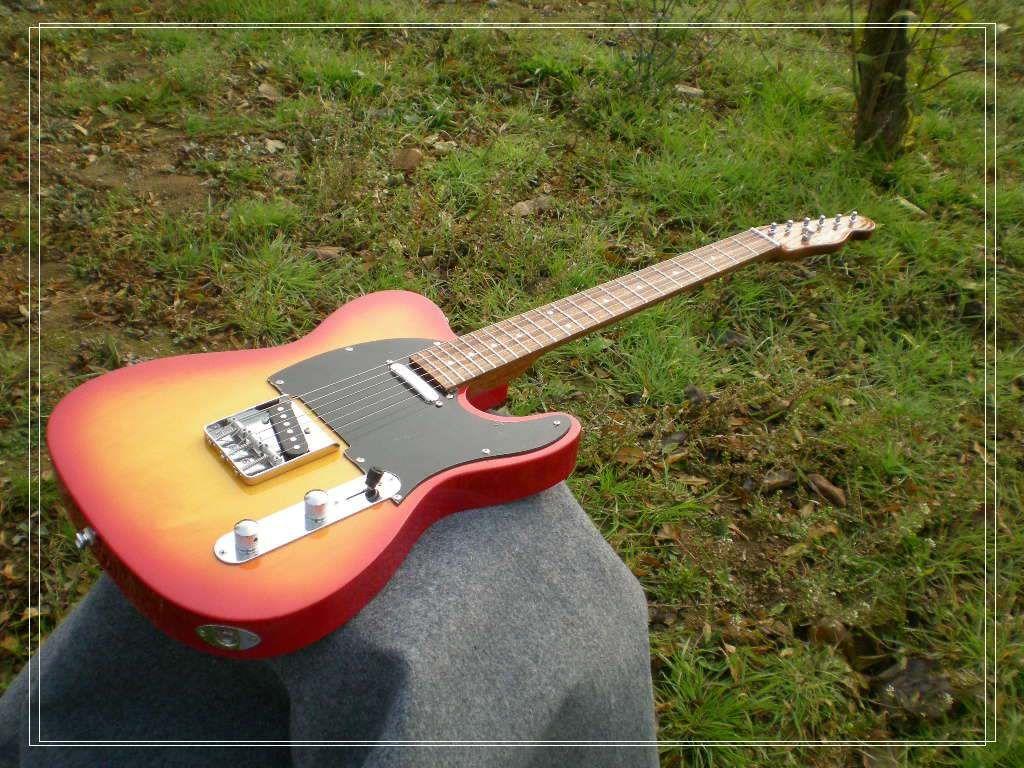 Высокое качество оптовые гитары Вишневый взрыв электрогитары палисандр гриф высокое качество OEM дешевые