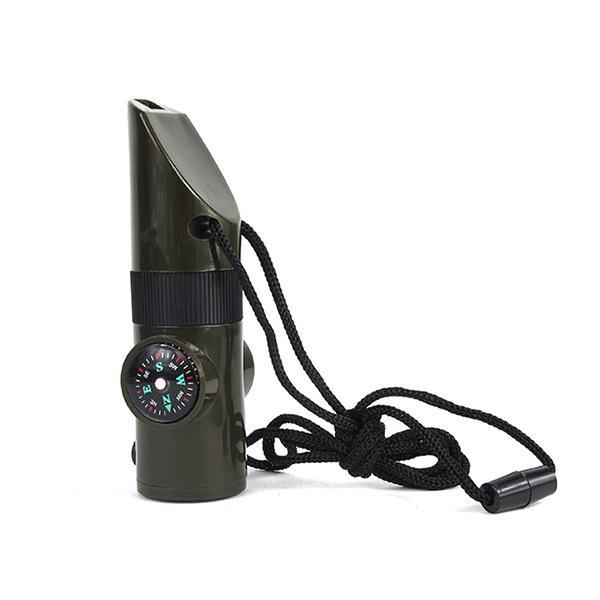 Siedem Professional Outdoor One Wielofunkcyjne Survival Whistle Emergency SOS Termometr Whistle High-Flowence z kompasem