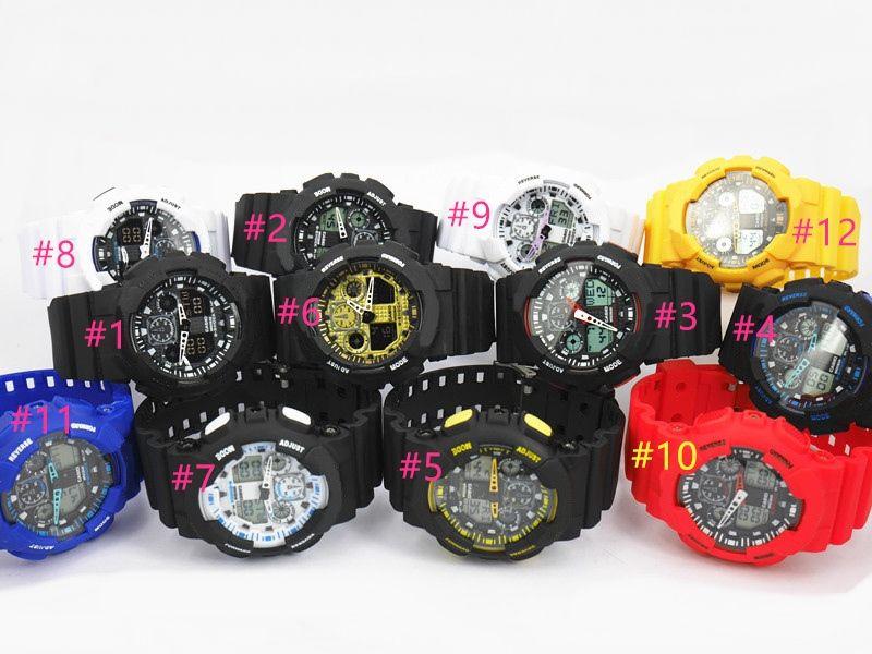 5 шт. / лот новый relogio G100 Мужские спортивные часы, светодиодные хронограф наручные часы, военные часы, цифровые часы цена продвижения